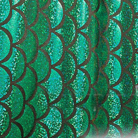 Metallic Green and Black Foil - Large Fish Scale